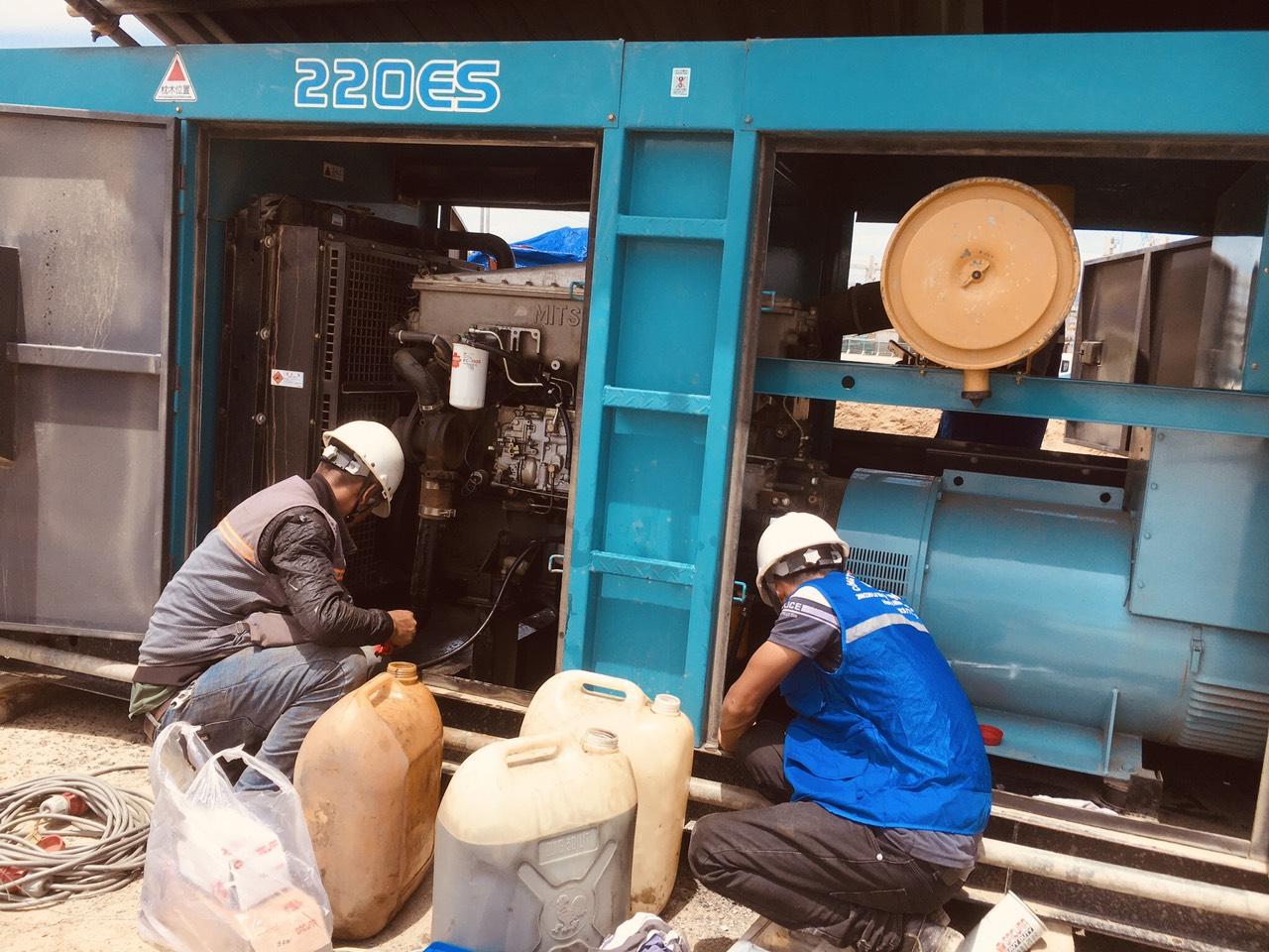 Bảo trì bảo dưỡng máy phát điện Denyo