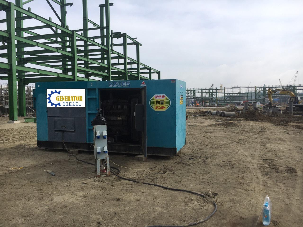 Máy phát điện thi công công trình