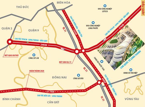 Tuyến đường vào sân bay quốc tế long thành